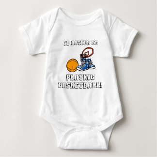 I'd Rather Be Playing Basketball! Baby Bodysuit