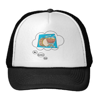 i'd rather be playing Bass Drums Trucker Hat