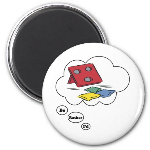 I'd rather be playing Beanbags Refrigerator Magnets