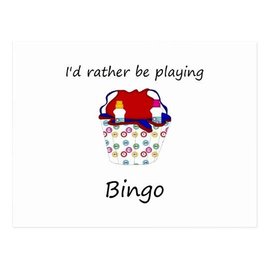 I'd rather be playing bingo (bag) postcard