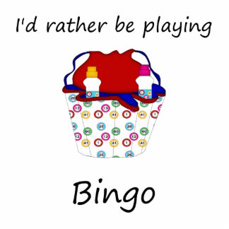 I'd rather be playing bingo (bag) statuette
