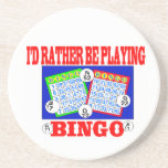 I'd Rather Be Playing Bingo! Beverage Coasters