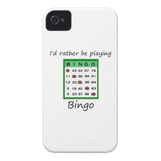 I'd rather be playing bingo (card) Case-Mate iPhone 4 cases