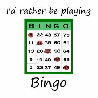 I'd rather be playing bingo (card) cutout