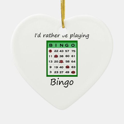 I'd rather be playing bingo (card) christmas tree ornament