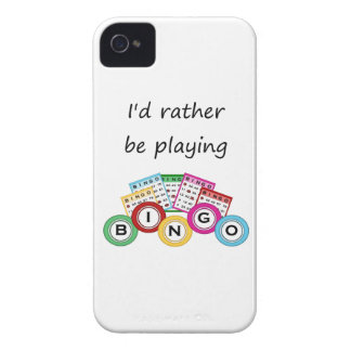 I'd rather be playing bingo iPhone 4 case