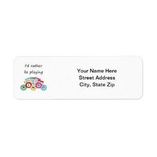 I'd rather be playing bingo custom return address labels
