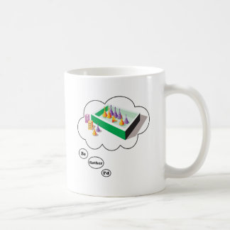I'd rather be playing Board Games 4 Classic White Coffee Mug