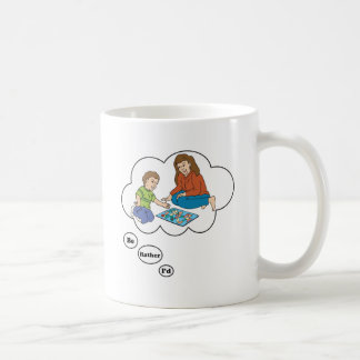 I'd rather be playing Board Games 5 Classic White Coffee Mug