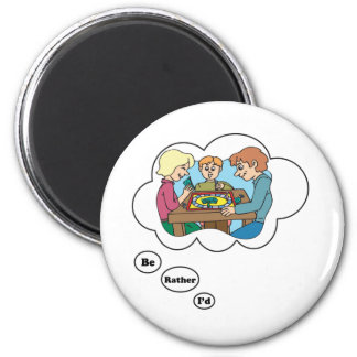 I'd rather be playing Board Games 6 2 Inch Round Magnet