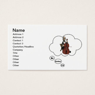 i'd rather be playing Cello 7 Business Card