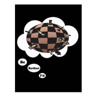 I'd rather be playing Chess 7 Postcard
