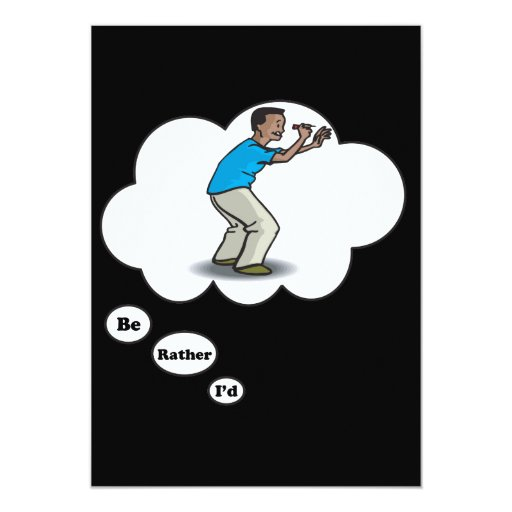 I'd rather be playing Darts 3 5x7 Paper Invitation Card