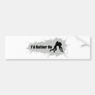 I'd Rather Be Playing Football Bumper Sticker
