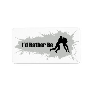 I'd Rather Be Playing Football Label