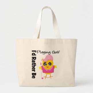 I'd Rather Be Playing Golf Jumbo Tote Bag