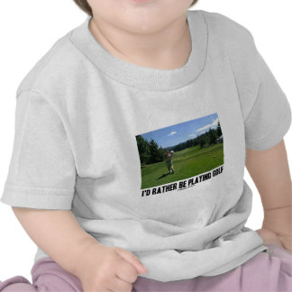 I'd Rather Be Playing Golf (Golfer On Golf Course) Shirt