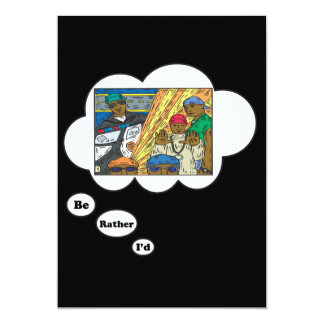 i'd rather be playing HipHop 2 5x7 Paper Invitation Card