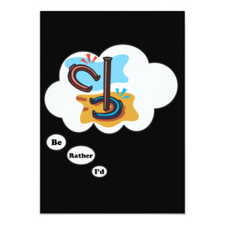 I'd rather be playing Horse Shoes 5x7 Paper Invitation Card