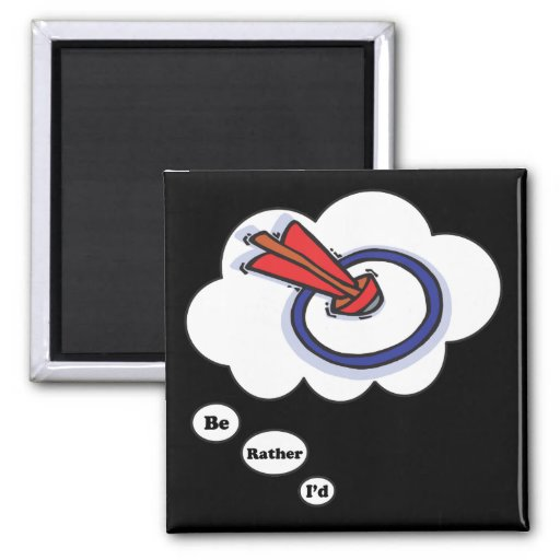 I'd rather be playing Lawn Darts 3 Fridge Magnet