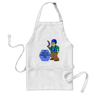 I'd Rather Be Playing Lazer Tag! Adult Apron