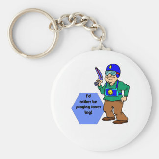I'd Rather Be Playing Lazer Tag! Keychain