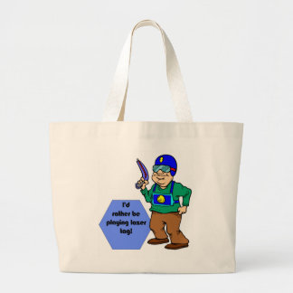 I'd Rather Be Playing Lazer Tag! Large Tote Bag