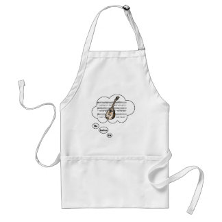 i'd rather be playing Lute 2 Adult Apron
