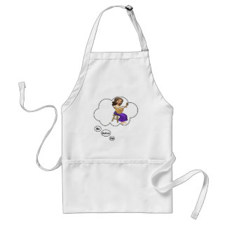 i'd rather be playing Lute Adult Apron