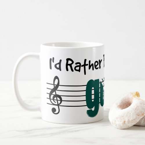 I'd Rather Be Playing My Guitar Classic Coffee Mug