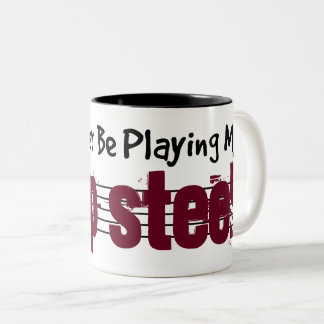 I'd Rather Be Playing My Lap Steel Two-Tone Coffee Mug