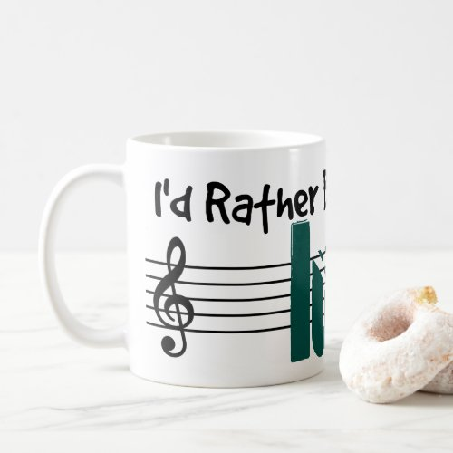 I'd Rather Be Playing My Lute Classic Coffee Mug