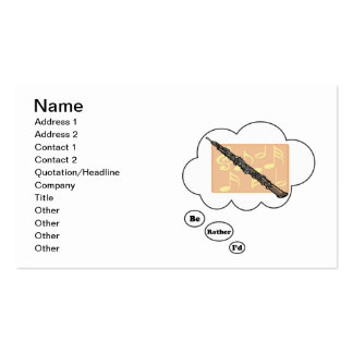 i'd rather be playing Oboe 3 Double-Sided Standard Business Cards (Pack Of 100)