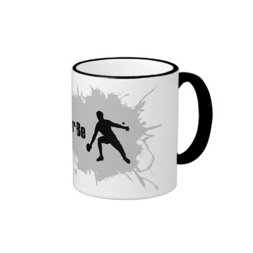 I'd Rather Be Playing Ping Pong Ringer Coffee Mug