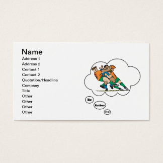 I'd rather be playing Rugby 2 Business Card