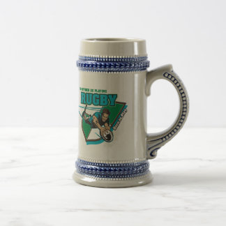I'd Rather Be Playing Rugby Beer Stein