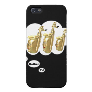 i'd rather be playing Saxophone 2 iPhone SE/5/5s Cover