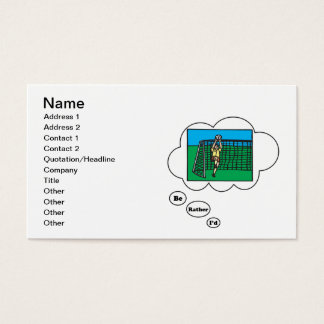 I'd rather be playing Soccer 8 Business Card