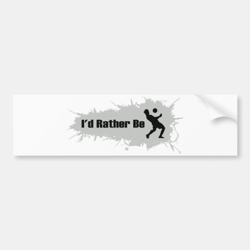 I'd Rather Be Playing Soccer Bumper Stickers