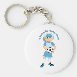 I'd Rather Be Playing Soccer Little Boy Tees, Gift Key Chains