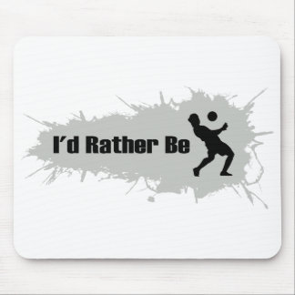 I'd Rather Be Playing Soccer Mouse Pad