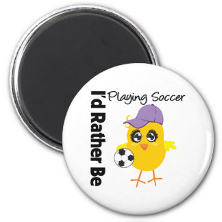I'd Rather Be Playing Soccer Refrigerator Magnets