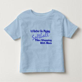 I'd Rather Be Playing Softball Toddler T-shirt