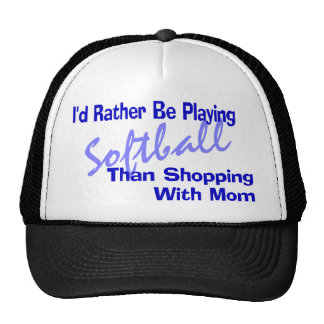 I'd Rather Be Playing Softball Trucker Hat