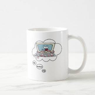 I'd rather be playing Solitaire Classic White Coffee Mug