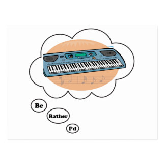 i'd rather be playing Synthesizer Postcard