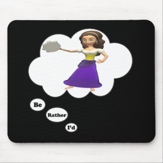 i'd rather be playing Tambourine 2 Mouse Pad