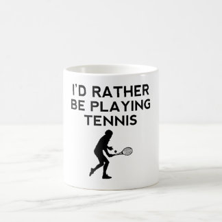 I'd Rather Be Playing Tennis 11 Oz Magic Heat Color-Changing Coffee Mug