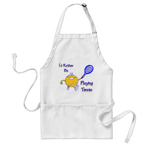 I'd Rather Be Playing Tennis Aprons