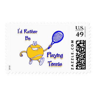 I'd Rather Be Playing Tennis Stamp